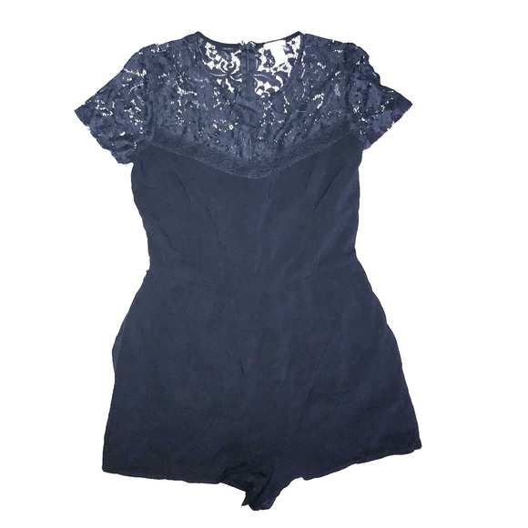 f263384681e8 Forever 21 Dresses   Skirts - F21 Navy Lace Detailed Romper